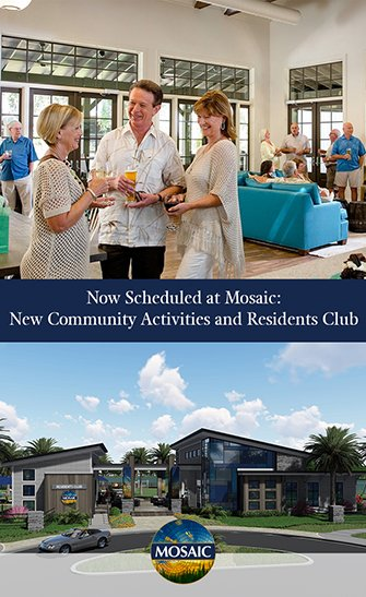 Now Scheduled at Mosaic New Community Activities and Residents Club