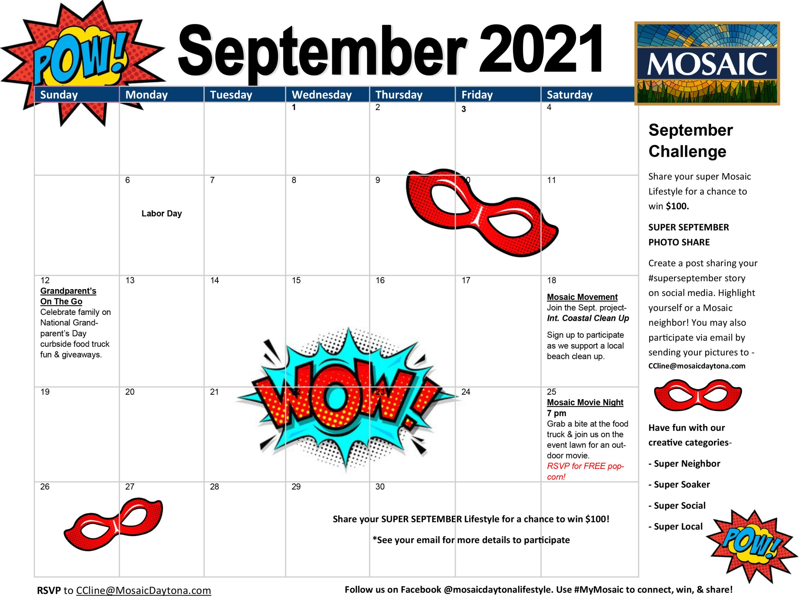 Events at Mosaic - Sept 21 scaled